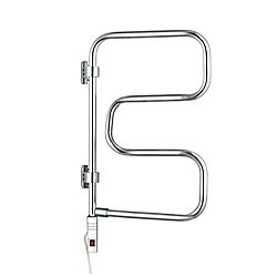 WarmlyYours 4-Bar Elements Towel Warmer, Plug-In, Polished Stainless Steel