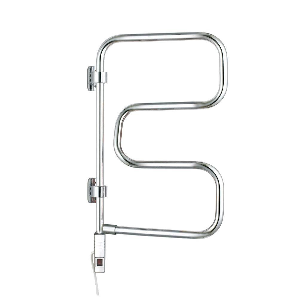 WarmlyYours Elements 4-Bar Towel Warmer in Polished Chrome