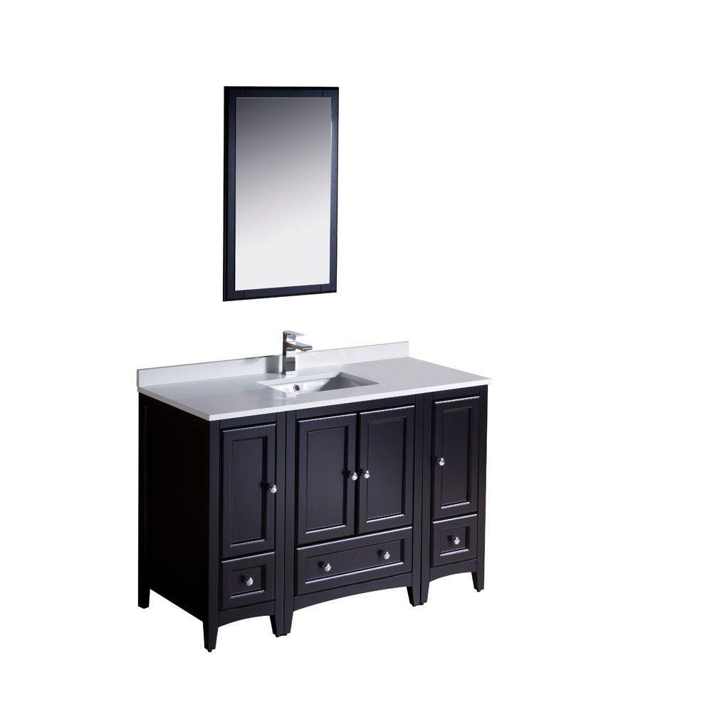 Oxford 48-inch W Vanity in Espresso Finish with Mirror