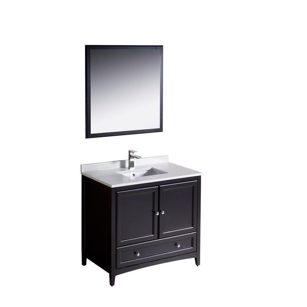 Meuble-lavabo traditionnel expresso 36po (91,4 cm) Oxford