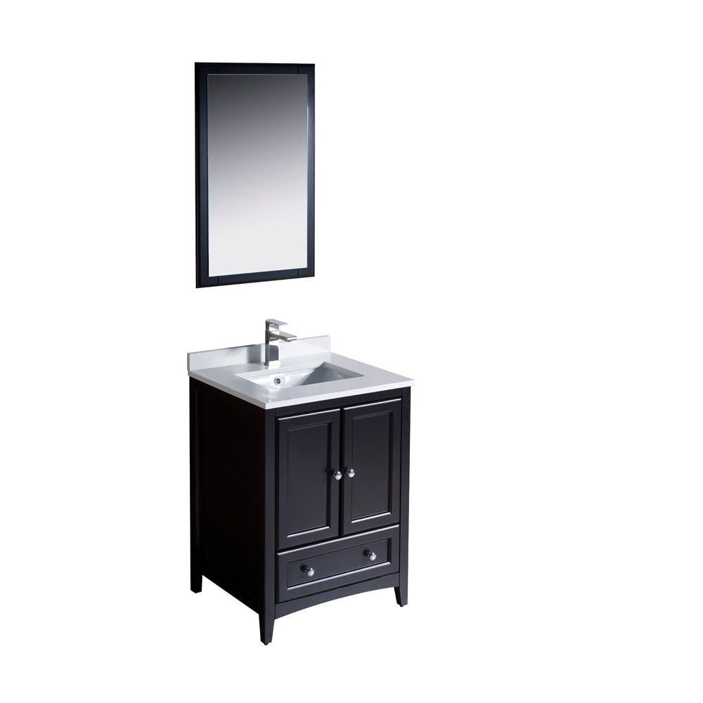 Oxford 24-inch W Vanity in Espresso Finish with Mirror