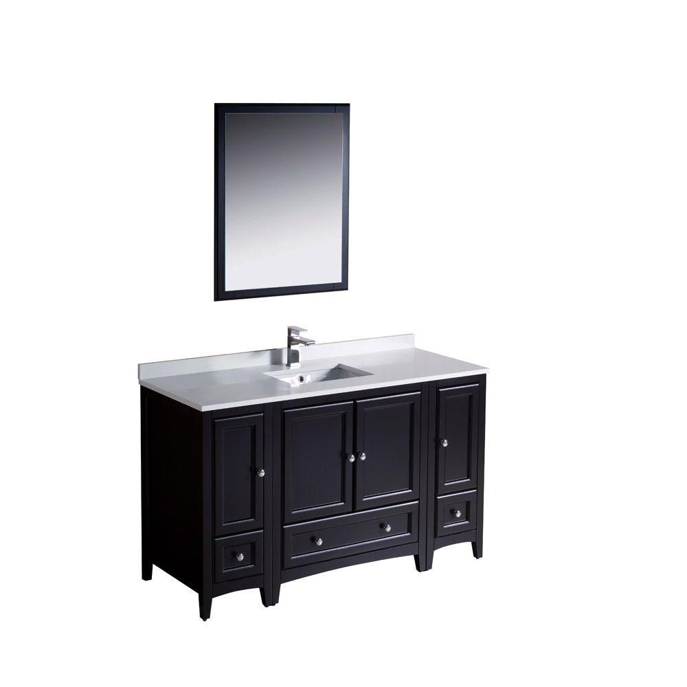 Oxford 54-inch W Vanity in Espresso Finish with Mirror