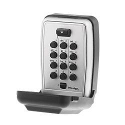 Master Lock Set Your Own Combination Push Button Wall Mount Key Safe