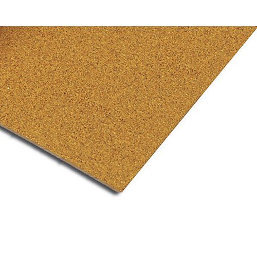 QEP 1/2 Inch Natural Cork Underlayment for Sound Reduction, 2 Feet x 3 Feet Sheets (25 Sheets)