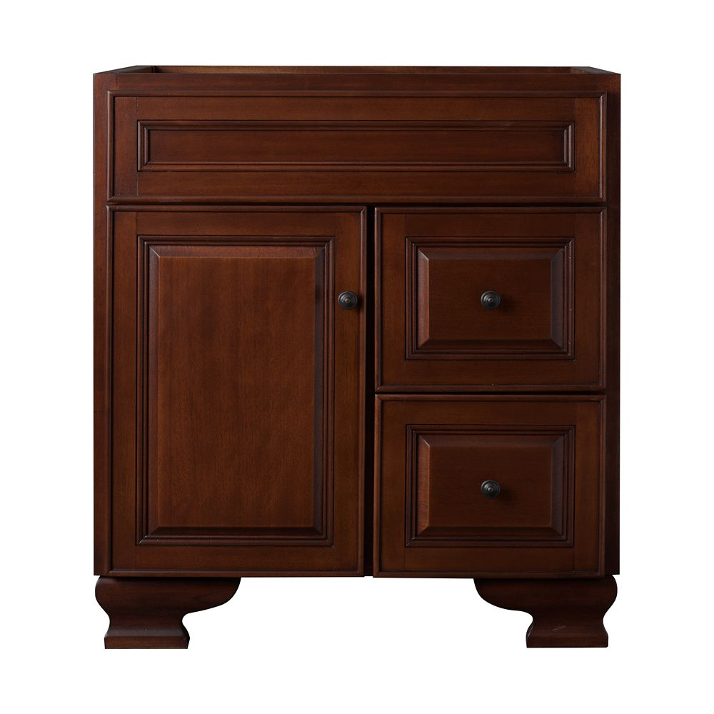 foremost international hawthorne 30 inch w vanity in dark walnut