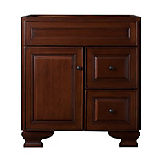 Hawthorne 30-inch W Vanity in Dark Walnut Finish