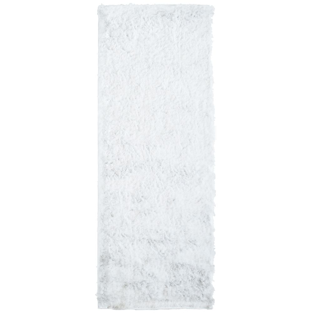 Silky White 2 Ft. x 8 Ft. Area Rug