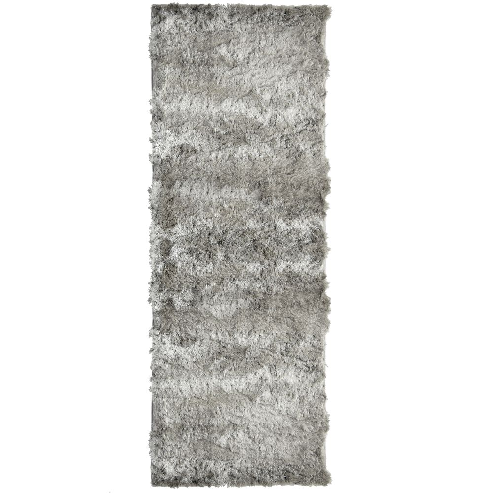 Silky Grey 2 Ft. x 8 Ft. Area Rug