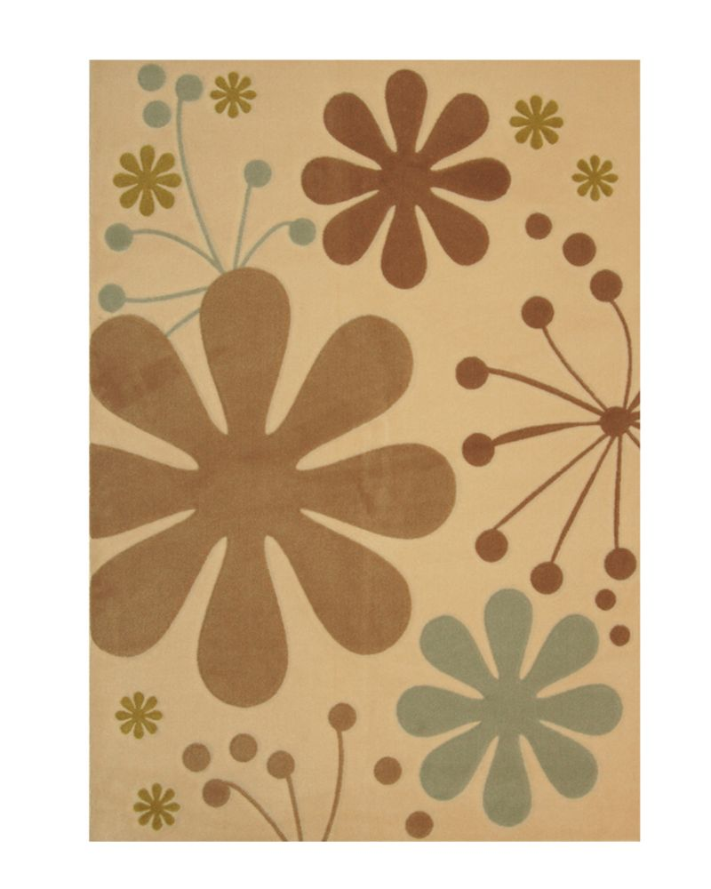 Urban Bloom Ivory 5 Ft. x 7 Ft. Area Rug