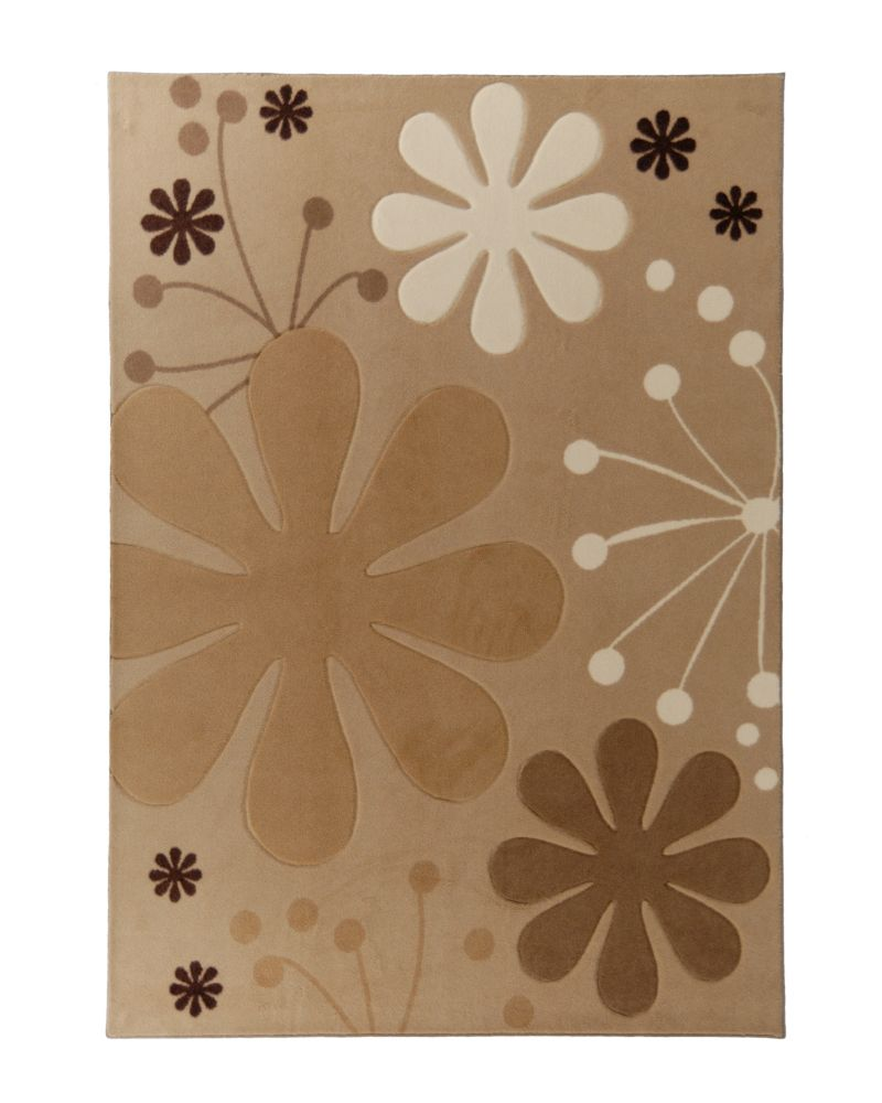 Tapis Urban Bloom Beige 5 Pi. x 7 Pi.