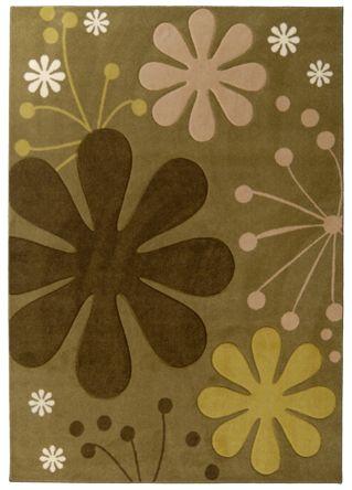 Tapis Urban Bloom Olive 4 Pi. x 6 Pi.