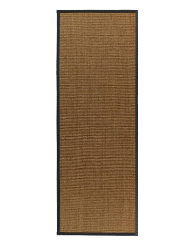 Natural Sisal Bound Black #35 2 Ft. 6 In. x 8 Ft. Area Rug