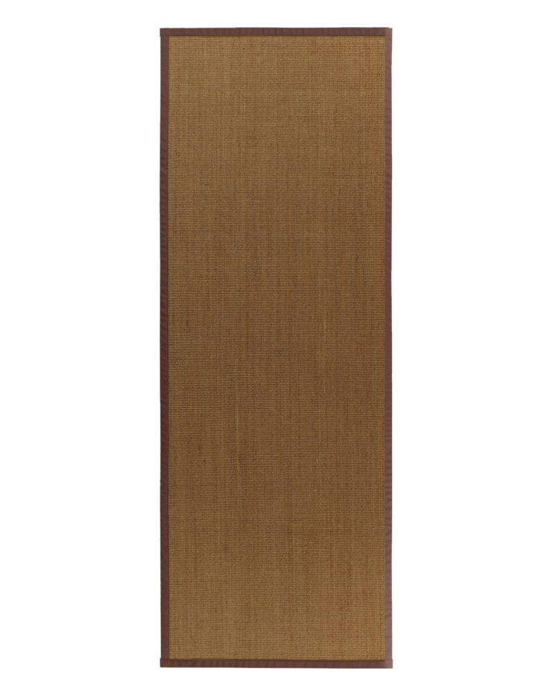 Natural Sisal Bound Brown #39 2 Ft. 6 In. x 8 Ft. Area Rug