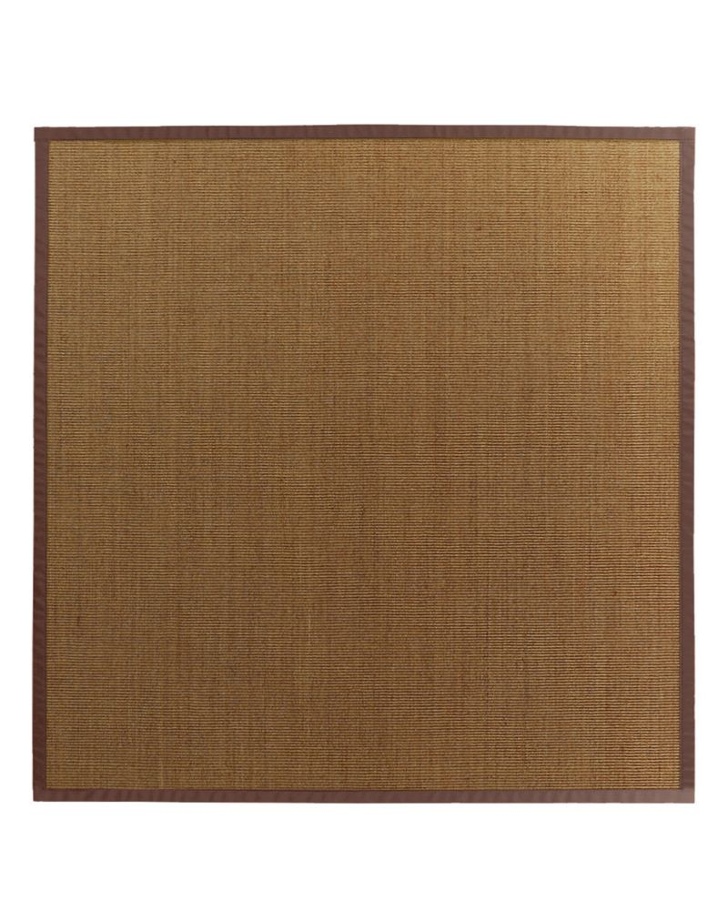 Natural Sisal Bound Brown #39 8 Ft. x 8 Ft. Area Rug