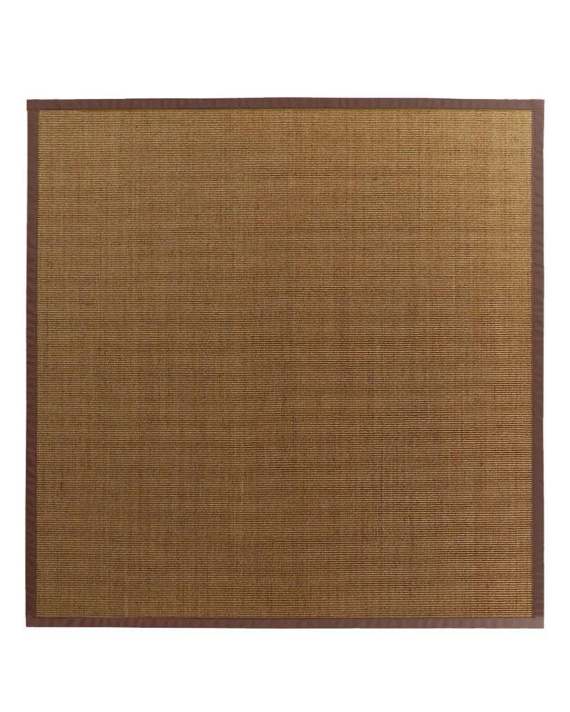 Lanart rug natural sisal bound brown 39 8 ft x 8 ft for Sisal carpet home depot