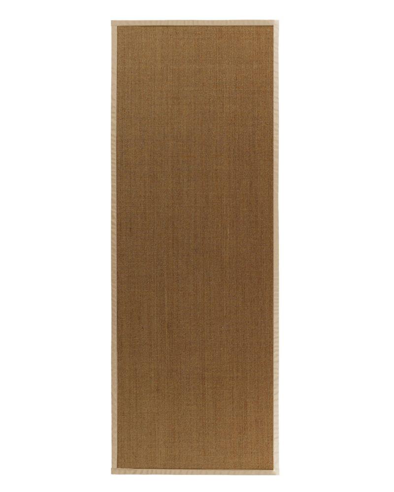 Lanart rug natural sisal bound honey 37 2 ft 6 in x 8 for Sisal carpet home depot