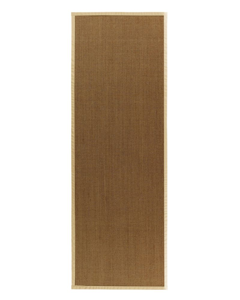 Natural Sisal Bound Cream #68 2 Ft. 6 In. x 8 Ft. Area Rug