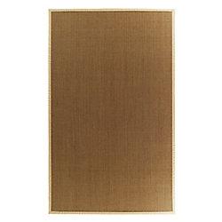 Lanart Rug Carpette d'intérieur, 4 pi. x 6 pi. tissage texturé, rectangulaire, sisal naturel, crème
