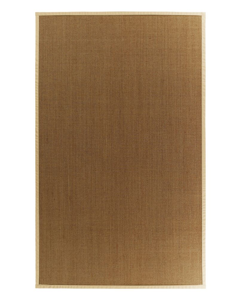 Natural Sisal Bound Cream #68 6 Ft. x 9 Ft. Area Rug