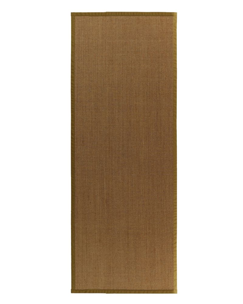 Natural Sisal Bound Moss #62 2 Ft. 6 In. x 8 Ft. Area Rug