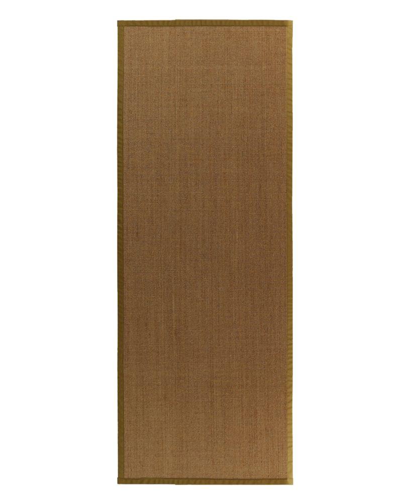 lanart rug tapis sisal naturel bordure moss 62 2 pi 6 po. Black Bedroom Furniture Sets. Home Design Ideas