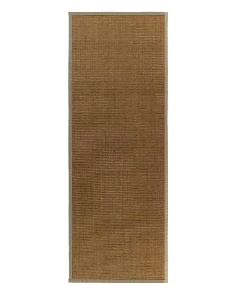 Natural Sisal Bound Tan #59 2 Ft. 6 In. x 8 Ft. Area Rug NATSISAL2X859 Canada Discount