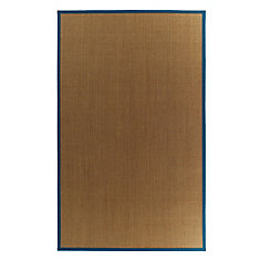 Lanart Rug Tapis Sisal Naturel Bordure Bleu 38 4 Pi X 6 Pi Home