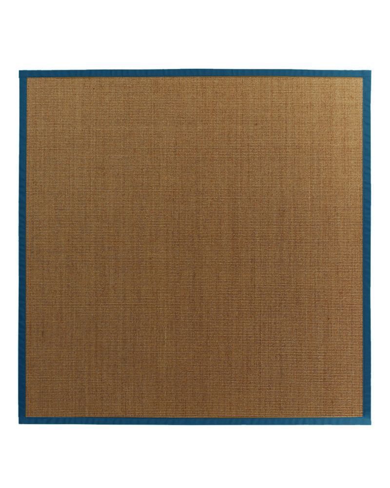 Natural Sisal Bound Blue #38 5 Ft. x 5 Ft. Area Rug