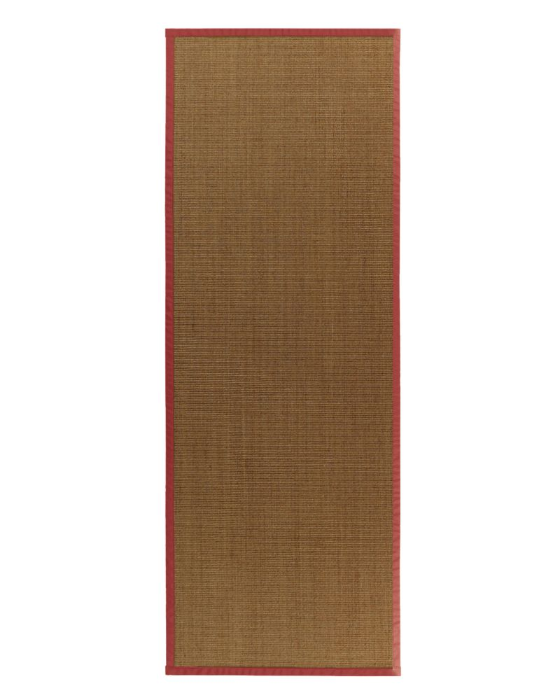 Natural Sisal Bound Red #61 2 Ft. 6 In. x 8 Ft. Area Rug