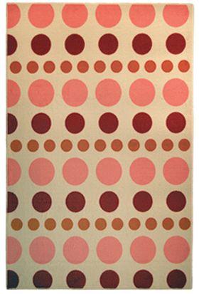 Designer Kids YumYum Pink 6 Ft. x 8 Ft. Area Rug