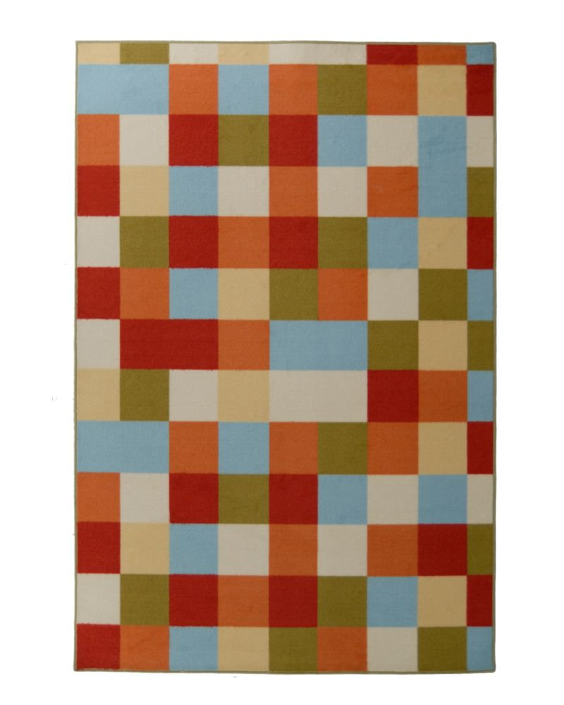 Tapis Designer Kids Scatter Patch Orange 4 Pi. x 6 Pi.