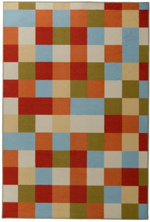 Designer Kids 9x12 Scatter Patch Orange