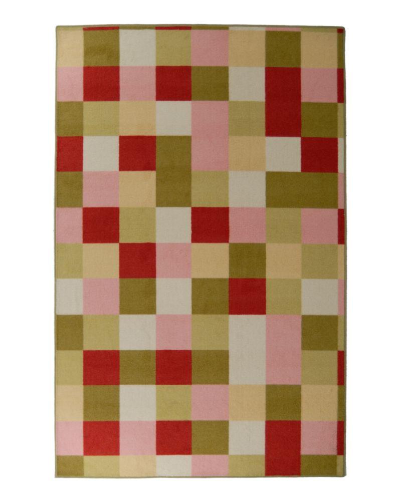 Designer Kids Scatter Patch Pink 6 Ft. x 8 Ft. Area Rug