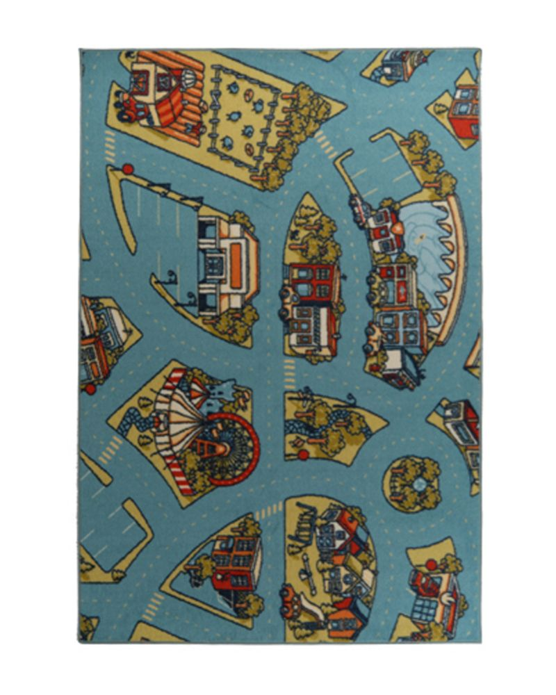 Designer Kids Urban Roadmap 6 Ft. x 8 Ft. Area Rug