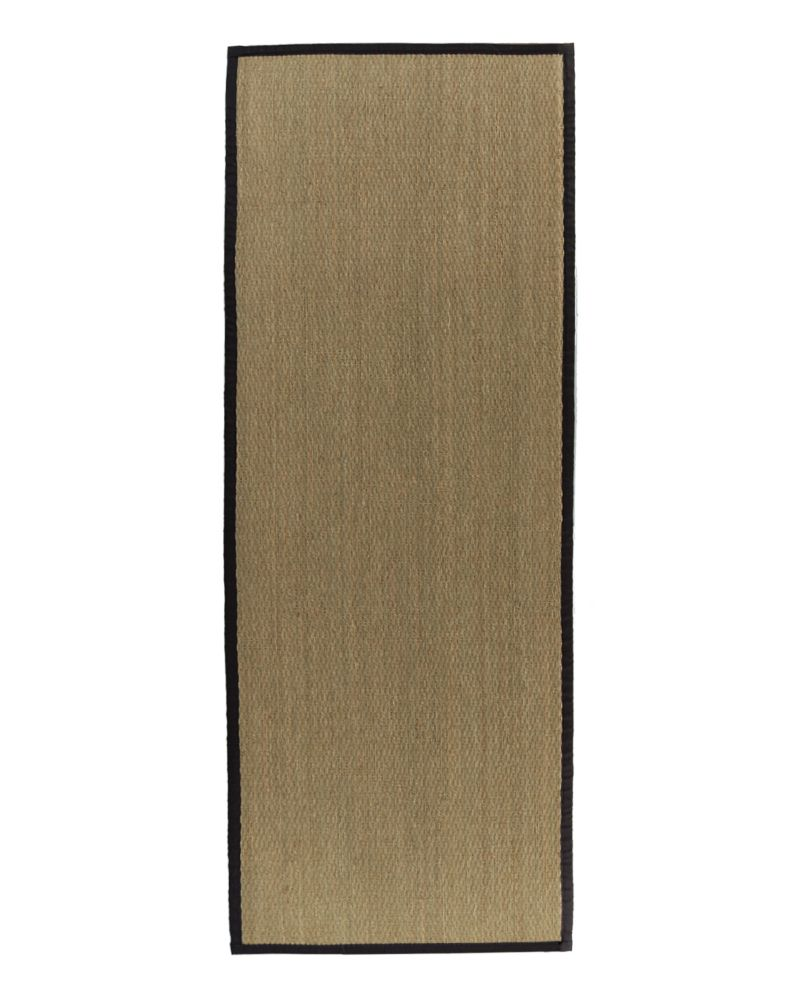 Natural Seagrass Bound Black #35 2 Ft. 6 In. x 8 Ft. Area Rug