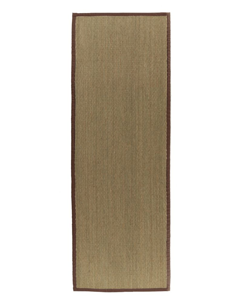 Natural Seagrass Bound Brown #39 2 Ft. 6 In. x 8 Ft. Area Rug