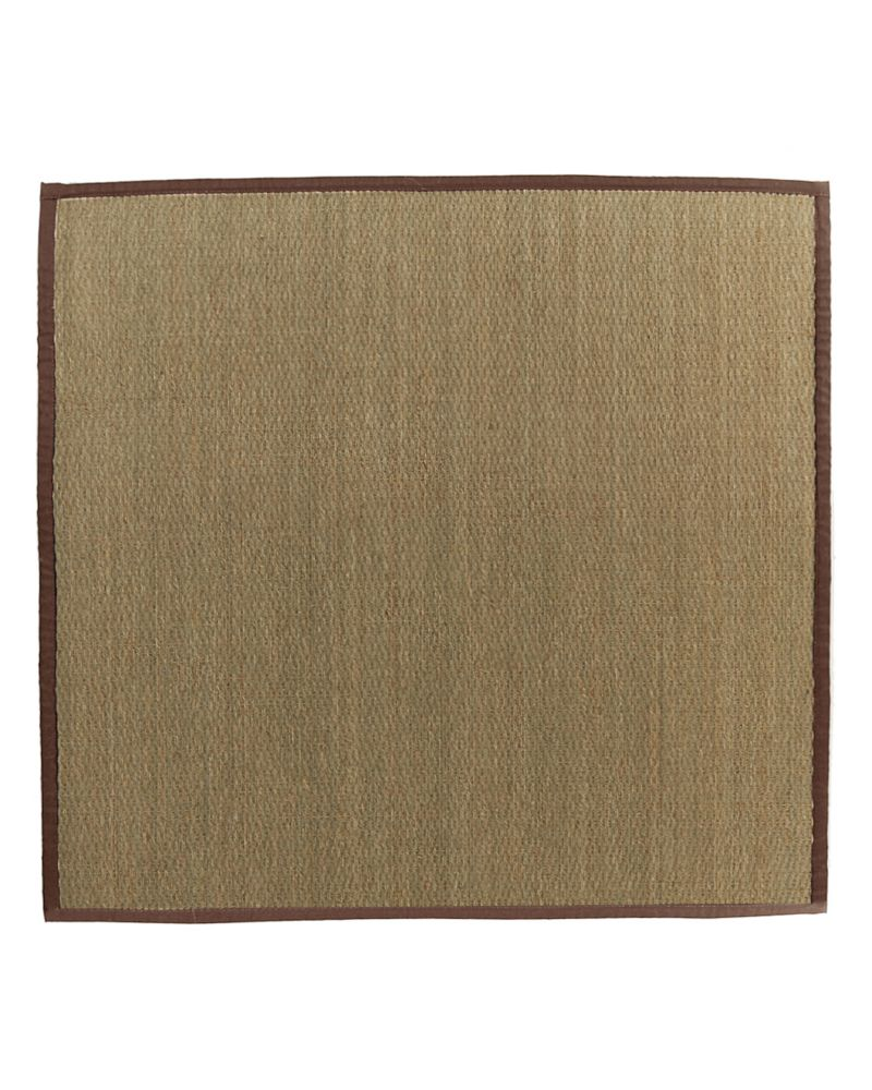 Natural Seagrass Bound Brown #39 5 Ft. x 5 Ft. Area Rug
