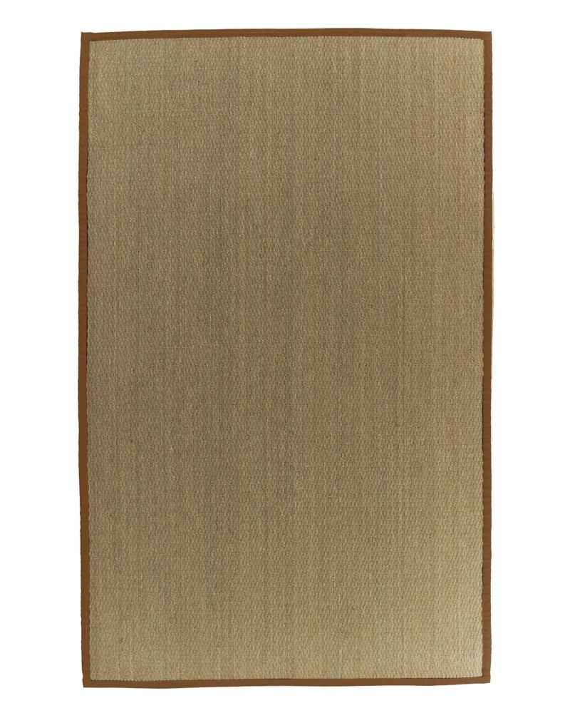 Natural Seagrass Bound Sienna #65 4 Ft. x 6 Ft. Area Rug