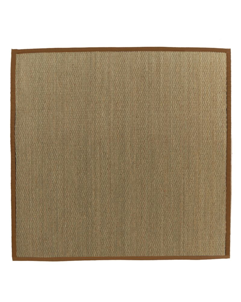 Natural Seagrass Bound Sienna #65 5 Ft. x 5 Ft. Area Rug