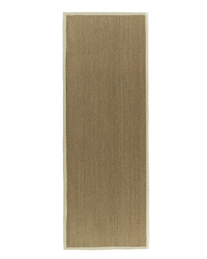 Natural Seagrass Bound Cream #68 2 Ft. 6 In. x 8 Ft. Area Rug