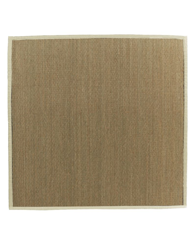 Natural Seagrass Bound Cream #68 5 Ft. x 5 Ft. Area Rug SEAGRASS5X568 Canada Discount