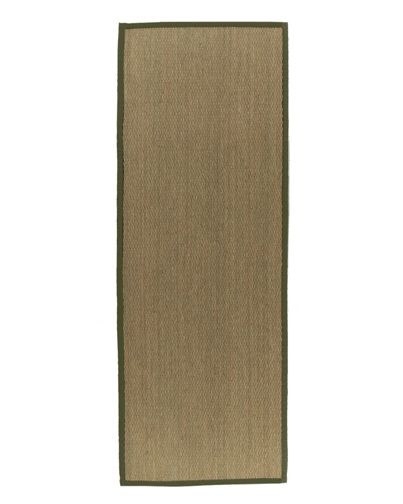 Natural Seagrass Bound Olive #63 2 Ft. 6 In. x 8 Ft. Area Rug