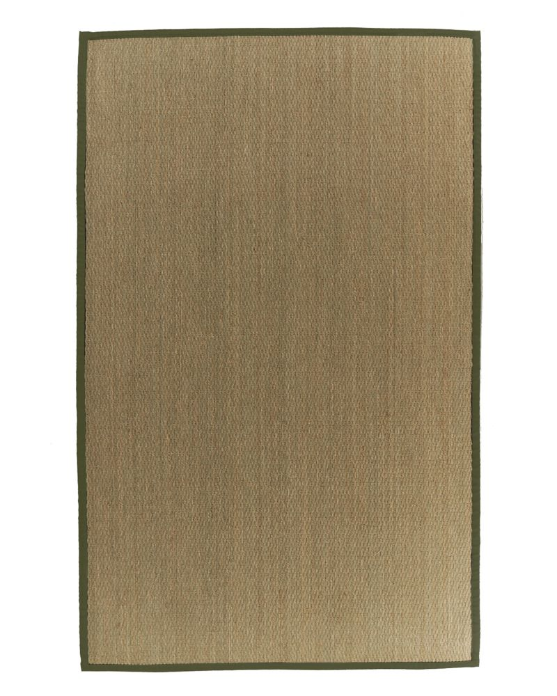 Natural Seagrass Bound Olive #63 4 Ft. x 6 Ft. Area Rug