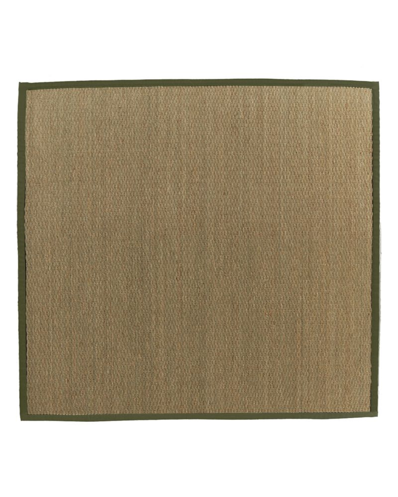 Natural Seagrass Bound Olive #63 5 Ft. x 5 Ft. Area Rug SEAGRASS5X563 Canada Discount