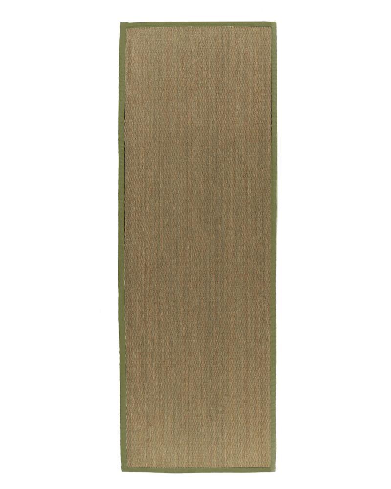 Natural Seagrass Bound Moss #62 2 Ft. 6 In. x 8 Ft. Area Rug
