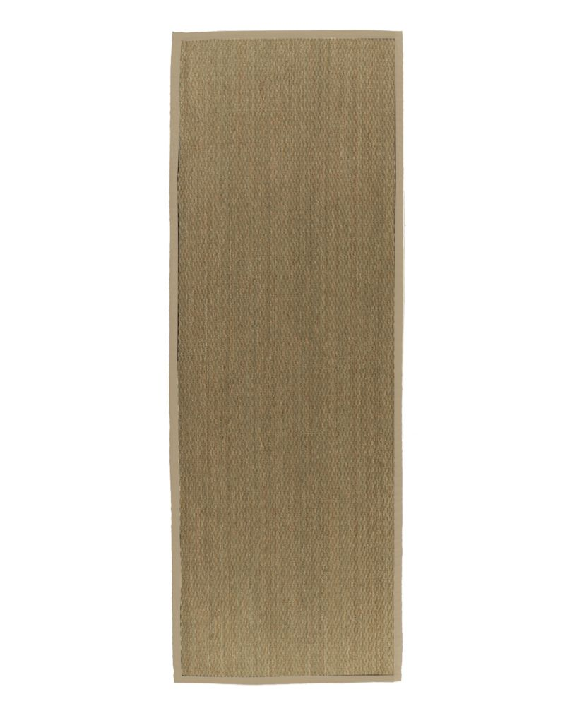 Natural Seagrass Bound Tan #59 2 Ft. 6 In. x 8 Ft. Area Rug