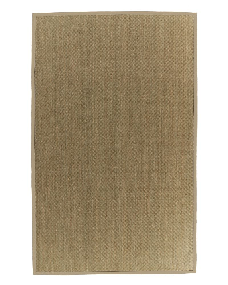 Natural Seagrass Bound Tan #59 4 Ft. x 6 Ft. Area Rug