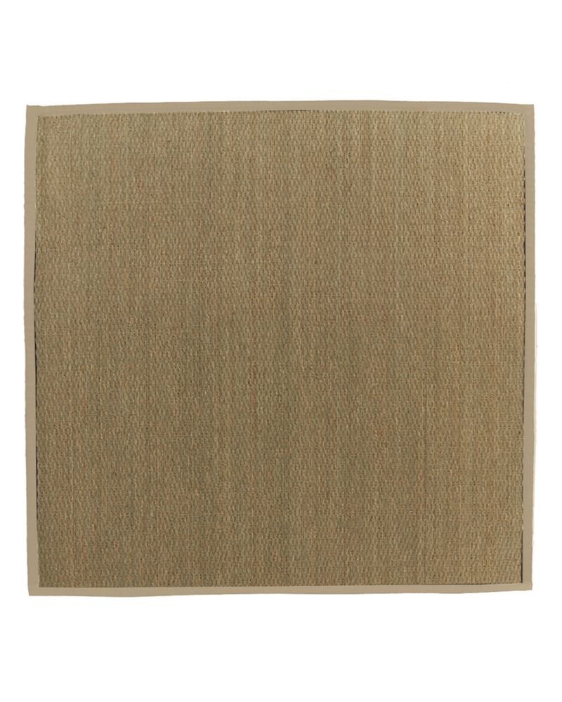 Natural Seagrass Bound Tan #59 5 Ft. x 5 Ft. Area Rug