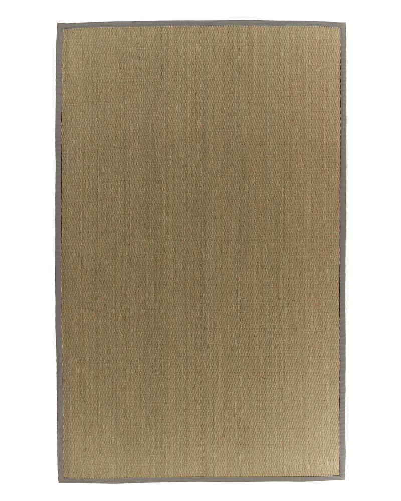 Natural Seagrass Bound Khaki #56 4 Ft. x 6 Ft. Area Rug