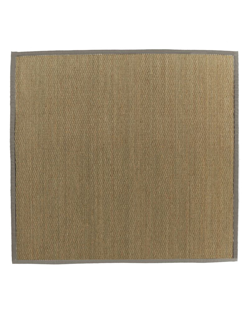 Natural Seagrass Bound Khaki #56 5 Ft. x 5 Ft. Area Rug